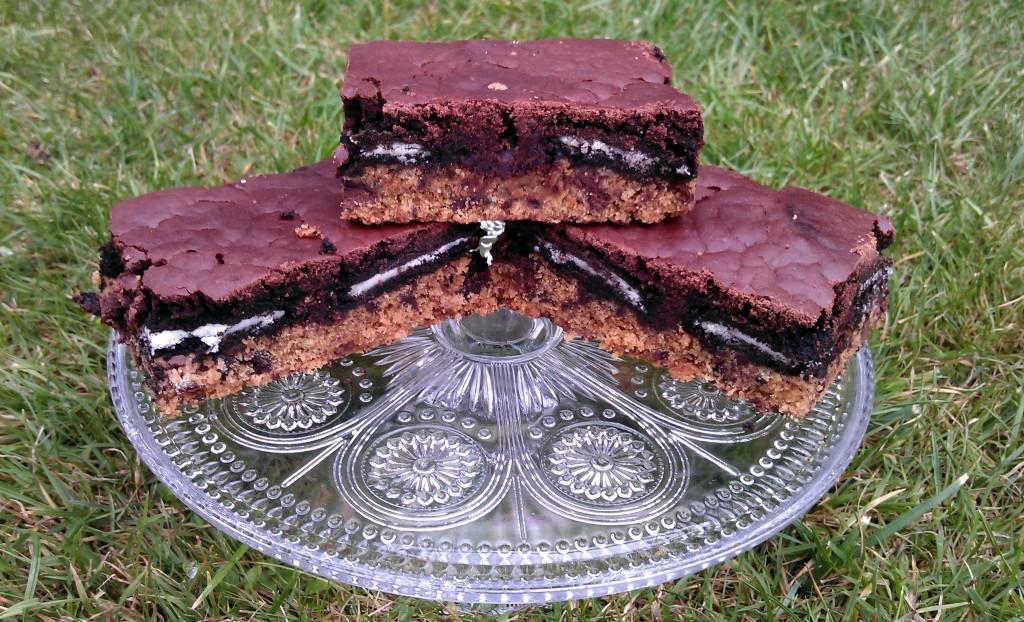 vegane Oreo Brownies