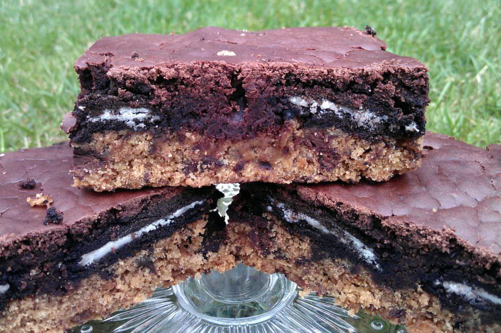 vegane Oreo Brownies auf Keksboden
