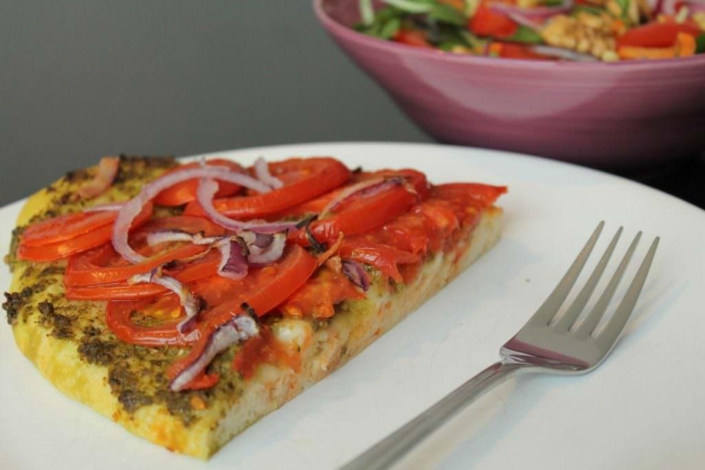 Pizza vegan pesto