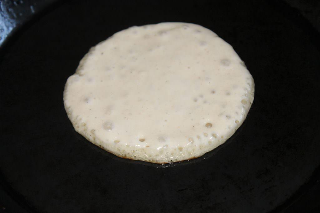 Pancakes ausbacken